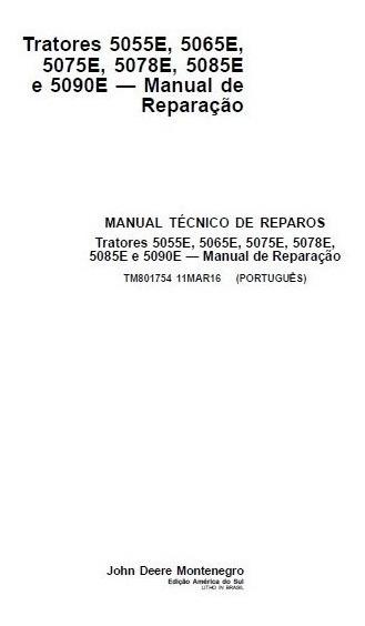 Manual De Serviço Tratores John Deere Série E