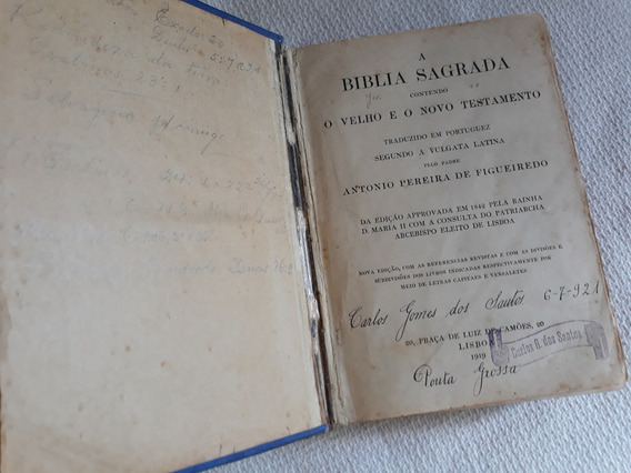 Biblia Vulgata Latina Pe.figueiredo1919-no Estado-leia