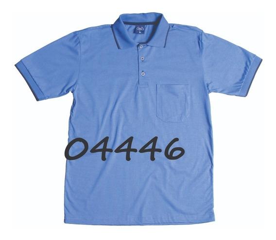 Kit Camisa Pólo Masculina Com Bolso 11001 (5 Peças)