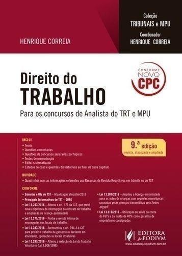 Direito Do Trabalho Para Os Concursos De Analista Do Trt ...