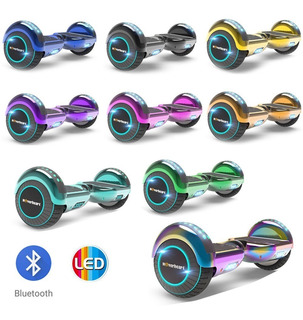 Hoverboard Colores Metalicos Patineta Electrica Bluetooth Led