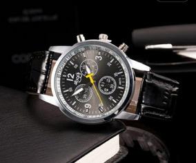 Relógio Masculino De Luxo Pulseira Em Couro