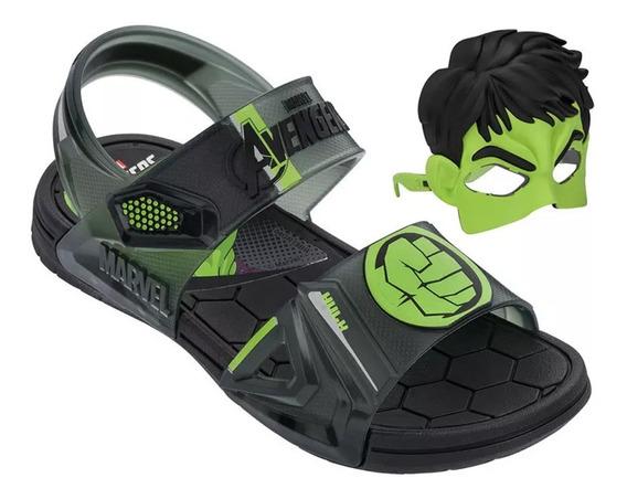 Sandália Infantil Capitão América Hulk Homem Grendene Kids