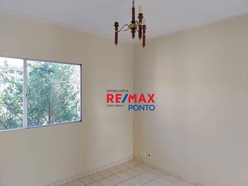 Imagem 1 de 15 de Apartamento Com 2 Dormitórios Para Alugar, 49 M² Por R$ 520,00/mês - Jardim Scomparim - Mogi Mirim/sp - Ap0028