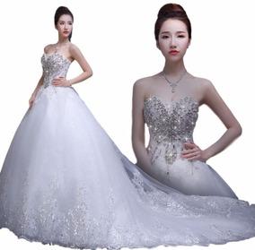 Vestido De Novia Nuevo 2018 C/cola 1mts(directo China)#1191
