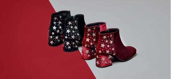 Bota Botineta Texana Estrellas