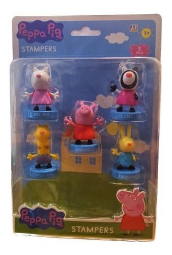 Imagen 1 de 1 de Peppa Pig - Set 5 Timbres Peppa Amigos