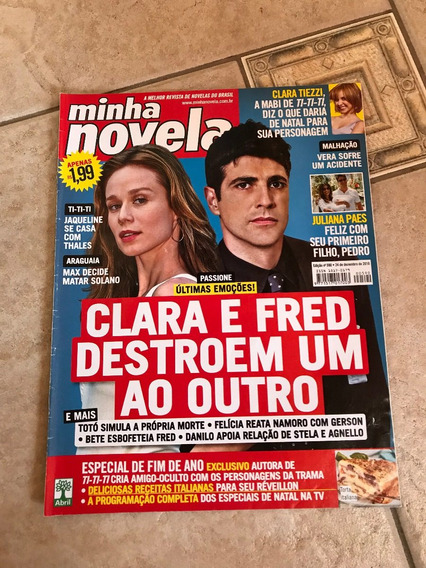 Revista Minha Novela Passione Juliana Paes Clara Tiezzi