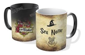 Caneca Mágica Harry Potter. Personalize Casa E Nome