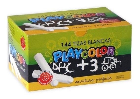 Tizas Play Color Blanca X Caja X 144