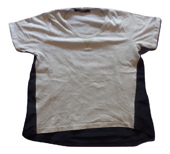 Remera Kevingston Mujer Talle 3 Azul Gris Y Azul