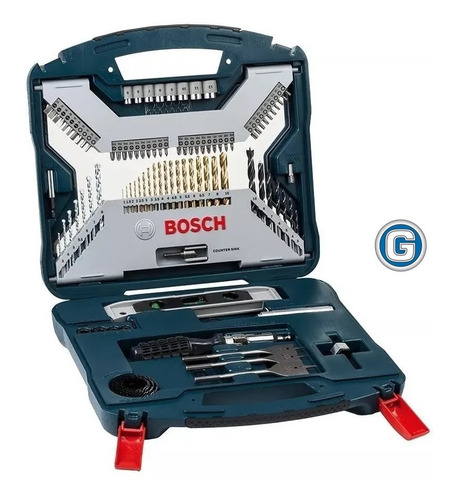 Set Mechas Bosch Titanio 100 U Madera Metal Pared Punta Copa