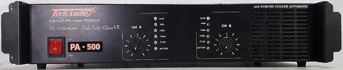 Imagem 1 de 3 de Amplificador  Tpx-1.4 + Pa-500  Direto Da Fabrica Techaudio