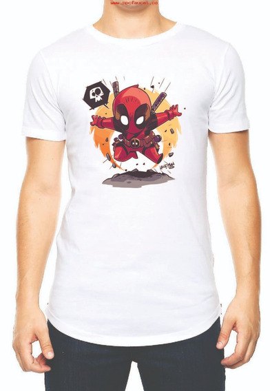 Playera Camiseta Chibi Deadpool Avengers Endgame Marvel