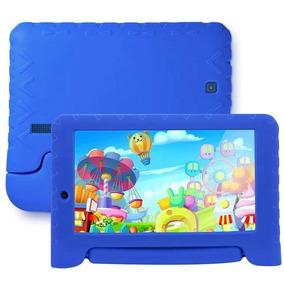 Tablet Multilaser Kid Pad, 8gb,câmera 2 Mp, Preto Capa Azul