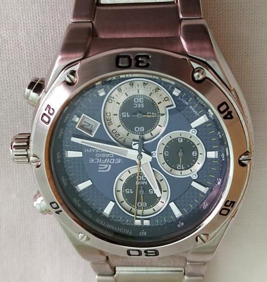 Relógio Casio Edifice Ef517 Azul Raridade - Perfeito Estado