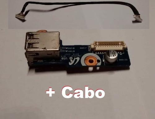 Imagem 1 de 4 de Placa Usb + Botão Power Samsung Np-r540 Notebook