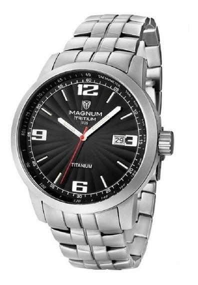 Relogio Magnum Masculino Tritium Ma30106t Titanio