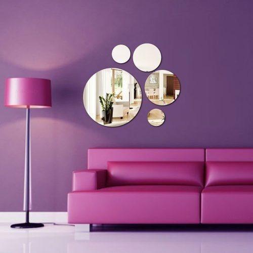 Espelho Decorativo - Acrílico Espelhado - Bolas E Círculos