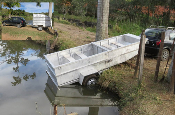 Cargoboat Lancha Com Carreta Passeio Pescaria Mergulho