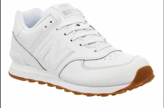 Zapatillas New Balance 574 All White Originales Con Caja