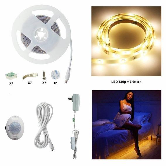 Luz De Cama Activada Por Movimiento, Aiboo, Tira Led Flexibl