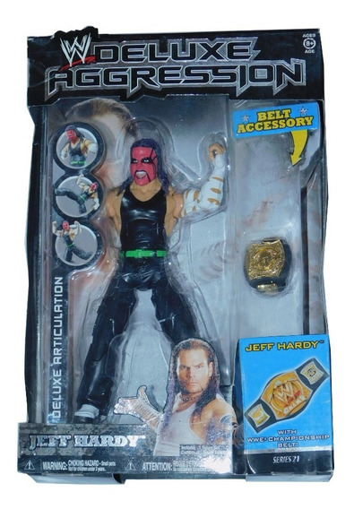Wwe Deluxe Aggression Jeff Hardy With Wwe Championship Belt