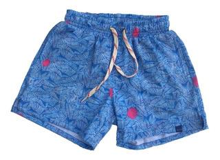 Malla Short De Baño Niños Bermuda Folau Diseños - Olivos