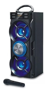 Parlante Inalambrico Karaoke Microfono Global Sbl10 Usb