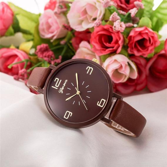 Relógio Feminino Marrom Importado Barato Original