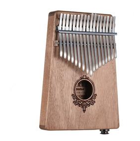 17-chave Kalimba Porttil Polegar Piano Mbira Mogno Madeira