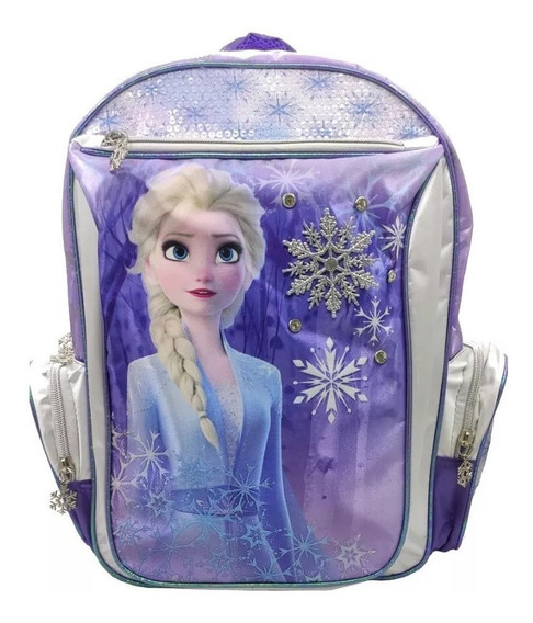 Mochila 16p Frozen Wab 59314 Espalda Educando