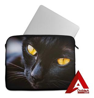 Retrato Black Cat - Funda Para Notebook (15,6 Pulgadas)