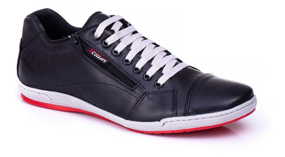 Sapatênis Couro Legitimo Estilo Ferracini Ziper- Tchwm Shoes