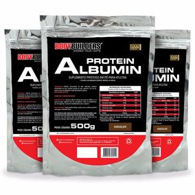 Kit 3x Albumina Protein 500g - Bodybuilders Total 1,5kg