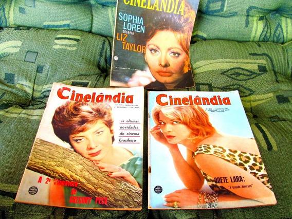 Lote 3 Cinelandia Odete Lara Sophia Loren Gloria Menezes Bb