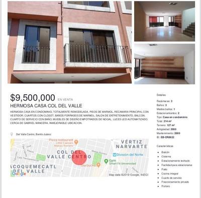 Hermosa Casa En Condominio, Totalmente Remodelada, Pisos De