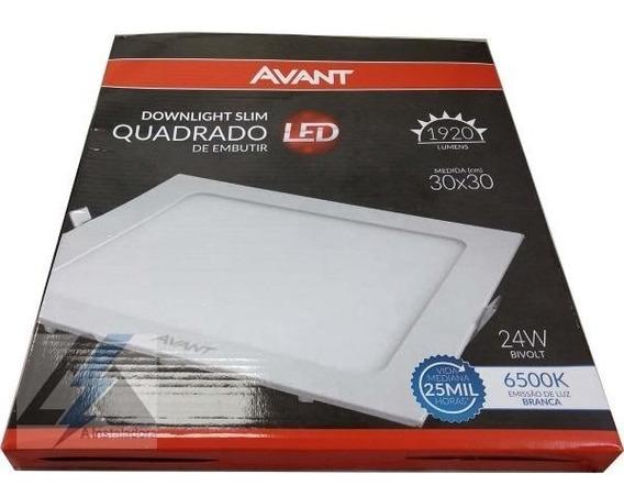 Plafon Embutir 24w Led Quadrado Painel Spot Luminaria Avant