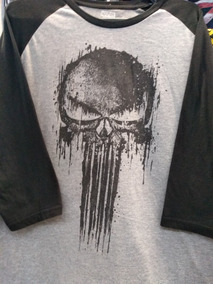Playera Oficial The Punisher Manga 3/4