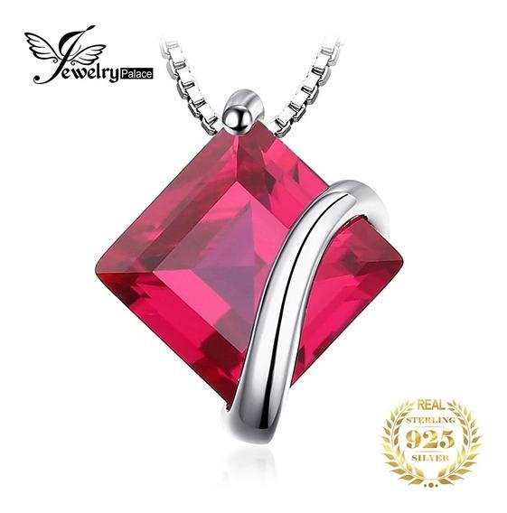 Jewelrypalace Clásico 3.3ct Cuadrado Creado Ruby
