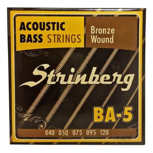 Imagem 1 de 5 de Encordoamento Baixolão Contra Baixo Acústico Ba-5 Strinberg