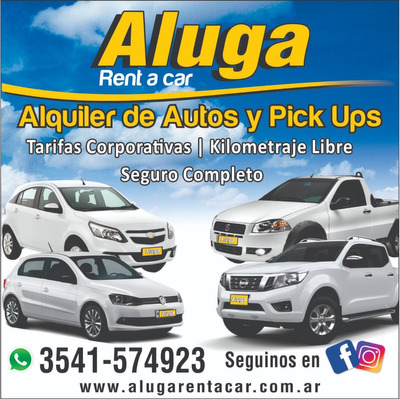 Alquiler De Autos, Pick Up Y Furgones.. Sin Chofer!