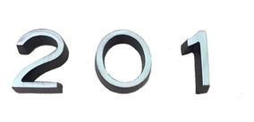 Jogo 3 Numero Metal Aluminio 3cm Kabel Faca P/ Apartamento