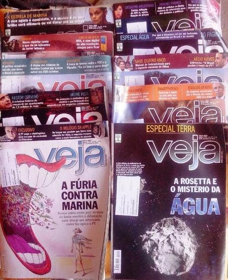 Livro - Lote Com 11 Revistas Veja