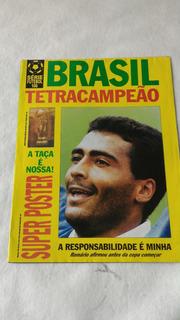 Pôster Brasil Tetracampeão 1994 Futebol Seleção 86x57cm