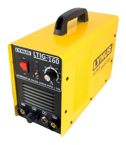 Máquina Inversora De Solda Mma Tig 160a Ltig-160 Lynus 220v