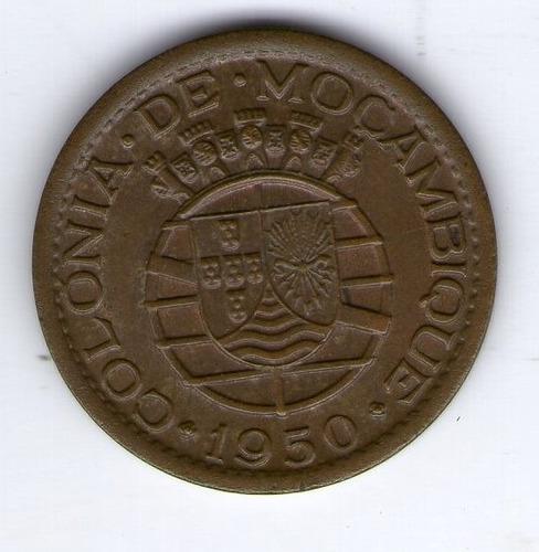 Mozambique Moneda De 20 Centavos 1950 Km#75 - Argentvs