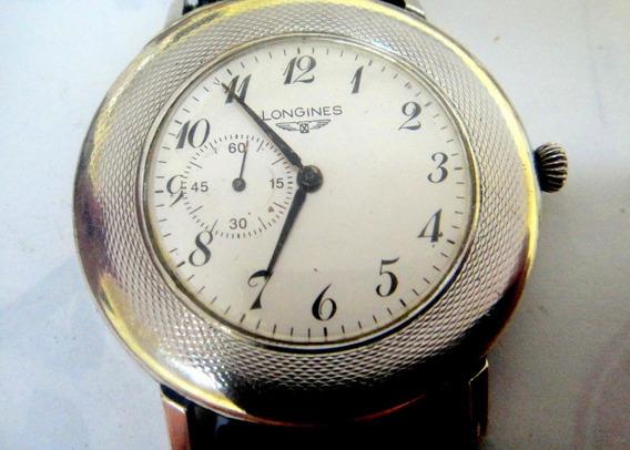 Relógio Longines De Prata Gigante
