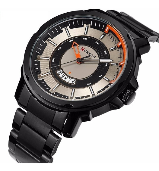 Relógio Masculino Curren De Luxo Analógico Metal E Aço Inox