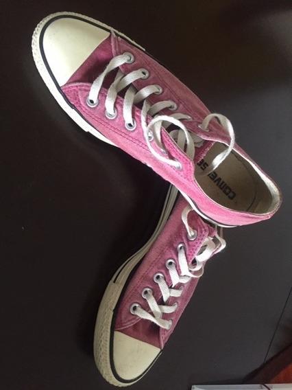 Converse Importado Casi Nuevos Color Rosa Viejo Talla 39 /5